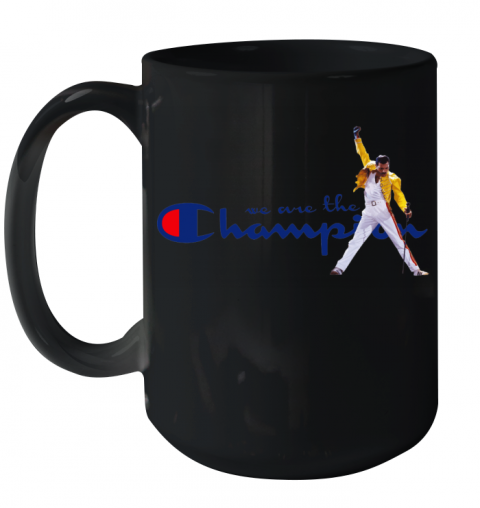 We Are The Champions Queen Freddie Mercury Ceramic Mug 15oz