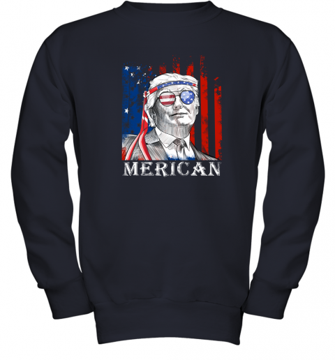 eh2k merica donald trump 4th of july american flag shirts youth sweatshirt 47 front navy