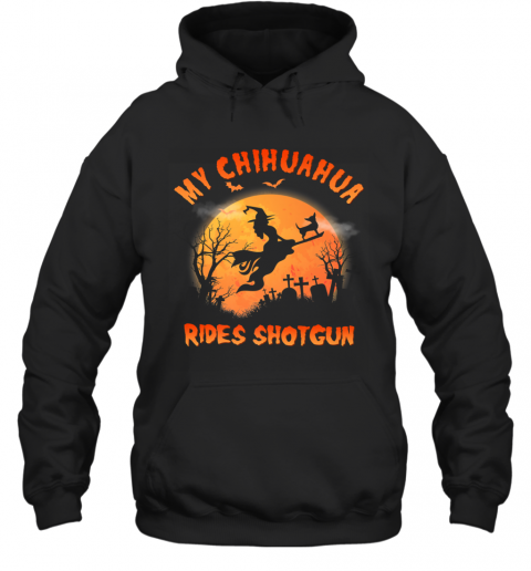Chihuahua Rides Shotgun Funny Chihuahua Dog Lover Halloween Premium Hoodie