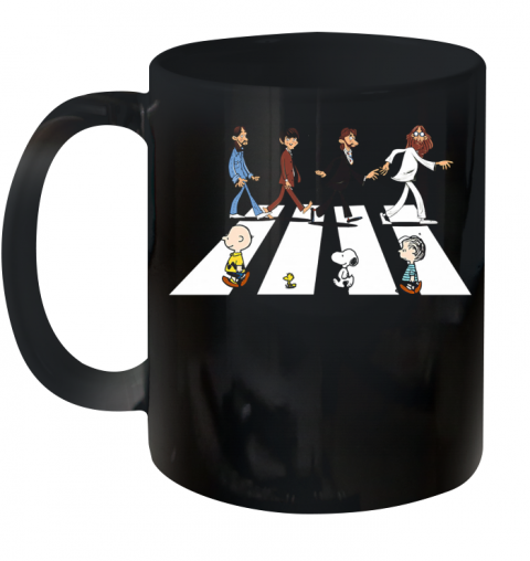 Abbey Road The Beatles And Peanuts Crosswalk Ceramic Mug 11oz