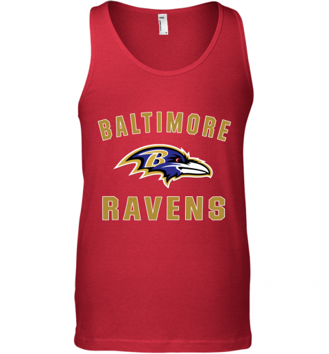 1ekh mens baltimore ravens nfl pro line by fanatics branded gray victory arch t shirt unisex tank 17 front red