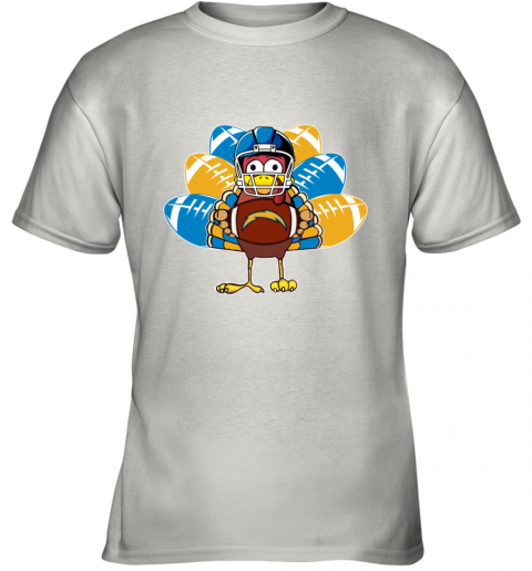 Los Angeles Chargers  Thanksgiving Turkey Football NFL Youth T-Shirt