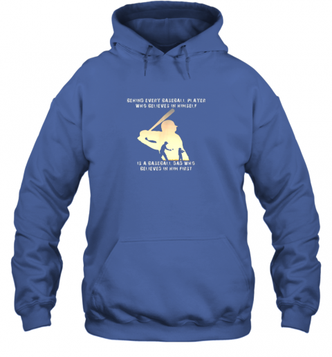 u9rh mens behind every baseball player is a dad that believes hoodie 23 front royal