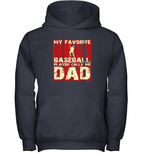 kapd mens my favorite baseball player calls me dad retro gift youth hoodie 43 front navy