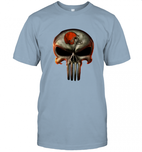 aa4h cleveland browns the punisher mashup football jersey t shirt 60 front light blue
