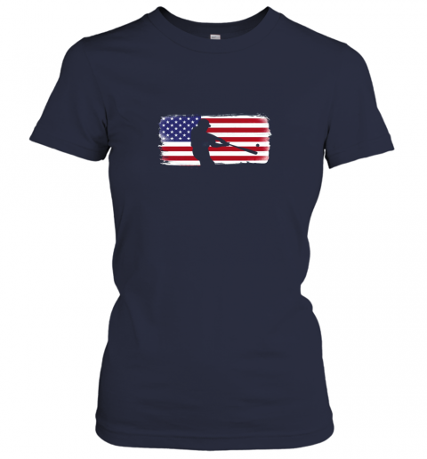 vovp usa american flag baseball player perfect gift ladies t shirt 20 front navy