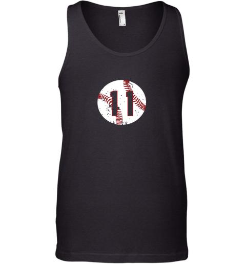 Vintage Baseball Number 11 Shirt Cool Softball Mom Gift Tank Top