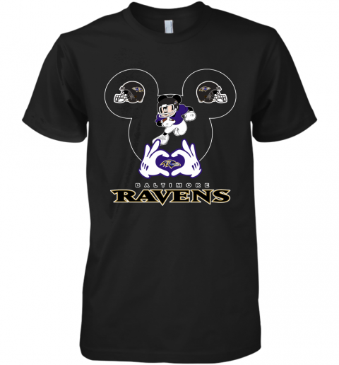 I Love The Ravens Mickey Mouse Baltimore Ravens Premium Men's T-Shirt