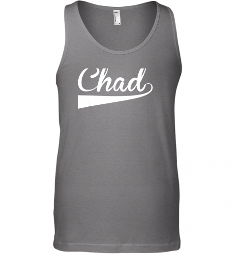 szqq chad country name baseball softball styled unisex tank 17 front graphite heather