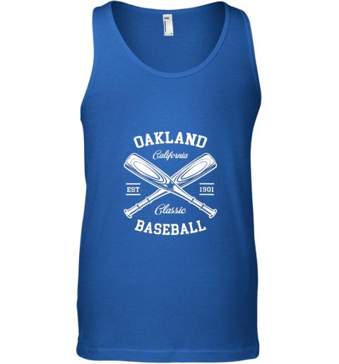 iszv oakland baseball classic vintage california retro fans gift unisex tank 17 front royal