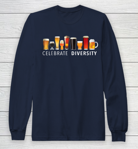 Beer Lover Funny Shirt Celebrate Diversity Craft Beer Drinking Long Sleeve T-Shirt 2