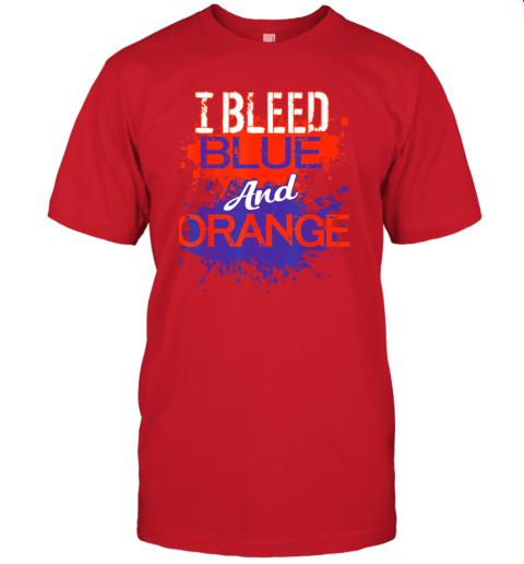 jyvh i bleed blue and orange fan shirt football soccer baseball jersey t shirt 60 front red