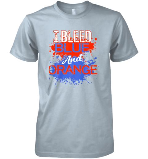 xkkv i bleed blue and orange fan shirt football soccer baseball premium guys tee 5 front light blue