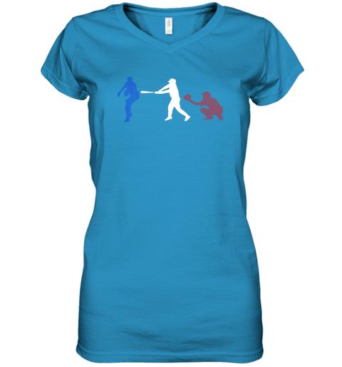 ruhf baseball usa flag american tradition spirit women v neck t shirt 39 front sapphire