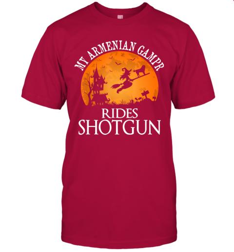 Armenian Gampr Rides Shotgun Dog Lover Halloween Party Gift T-Shirt