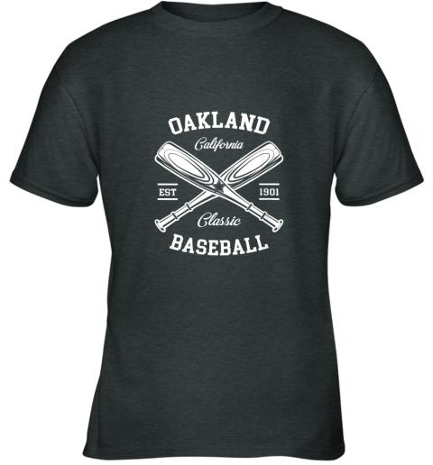 oujz oakland baseball classic vintage california retro fans gift youth t shirt 26 front dark heather