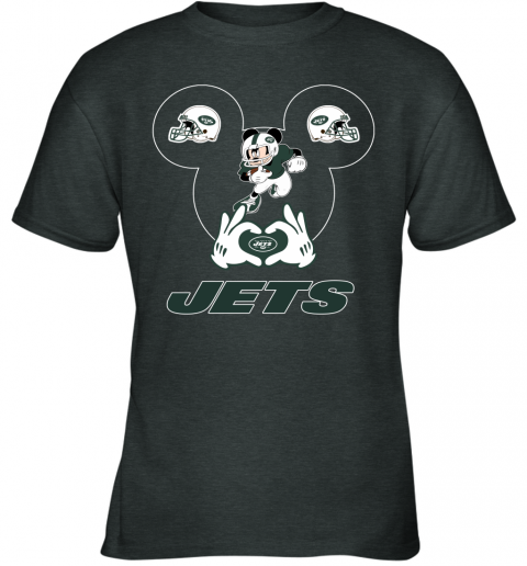 duq2 i love the jets mickey mouse new york jets youth t shirt 26 front dark heather