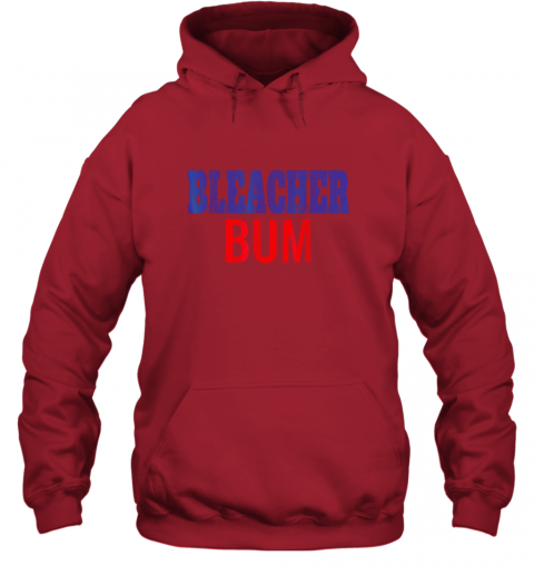 rsls bleacher bum original chicago baseball distressed hoodie 23 front red