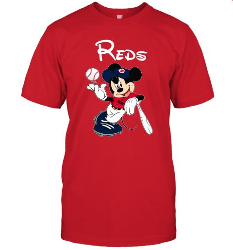 Baseball Mickey Team Cincinnati Reds Unisex Jersey Tee
