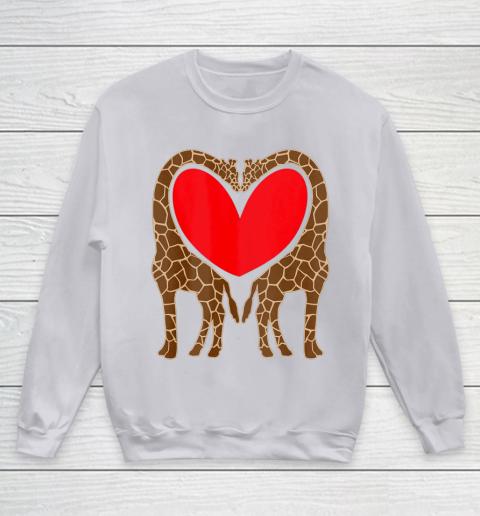 Cute Giraffe TShirt Fun Valentine Gift for Giraffe Lovers Youth Sweatshirt 3