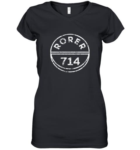 Rorer 714 Women's V-Neck T-Shirt