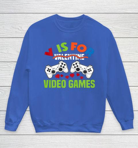 Funny Video Games Lover Valentine Day Youth Sweatshirt 6