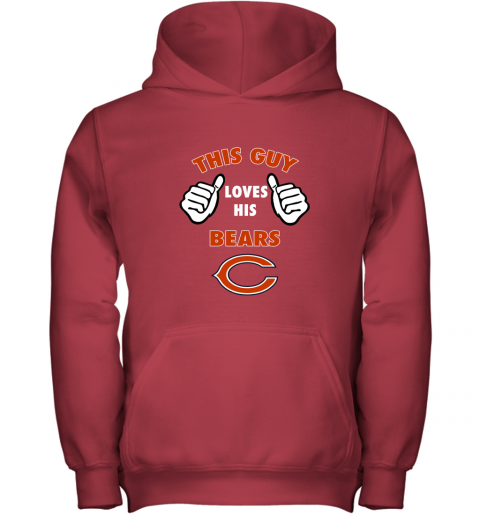 apve this guy loves his chicago bears shirts youth hoodie 43 front red