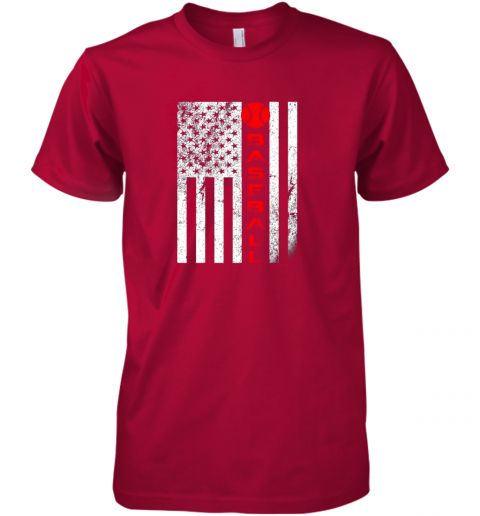 2o1t usa red whitevintage american flag baseball gift premium guys tee 5 front red
