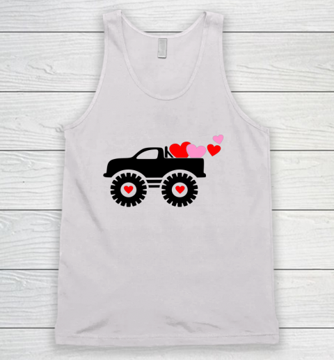 Valentine Monster Truck Loads of Love Hearts Shirt Gift Tank Top