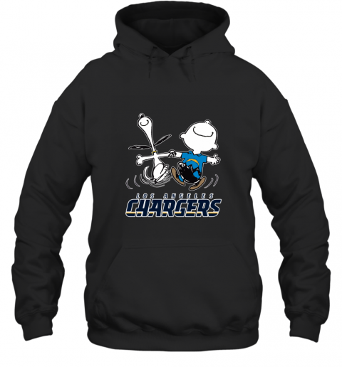 Snoopy And Charlie Brown Happy Los Angeles Charger Hoodie