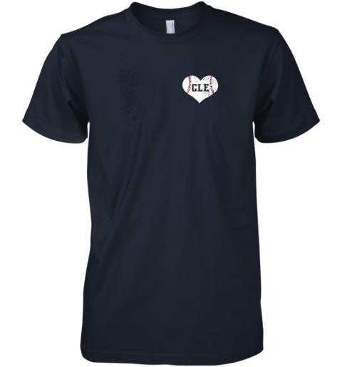 yazr vintage cleveland baseball sweatshirt ohio cle premium guys tee 5 front midnight navy