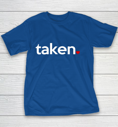 Taken Sorry I m Taken Gift for Valentine 2021 Couples Youth T-Shirt 6