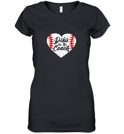 Dibs On The Coach Funny Baseball Women's V-Neck T-Shirt