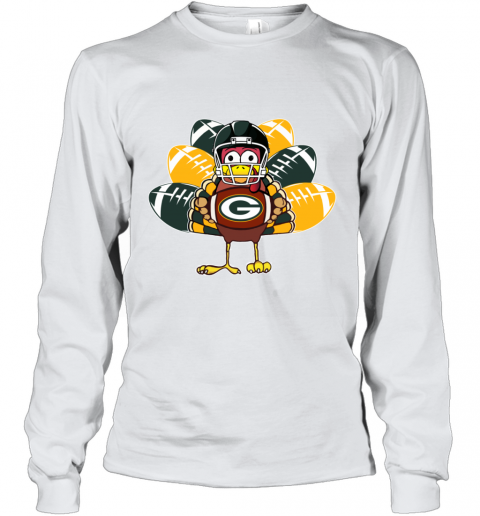 Green Bay Packers  Thanksgiving Turkey Football NFL Youth Long Sleeve