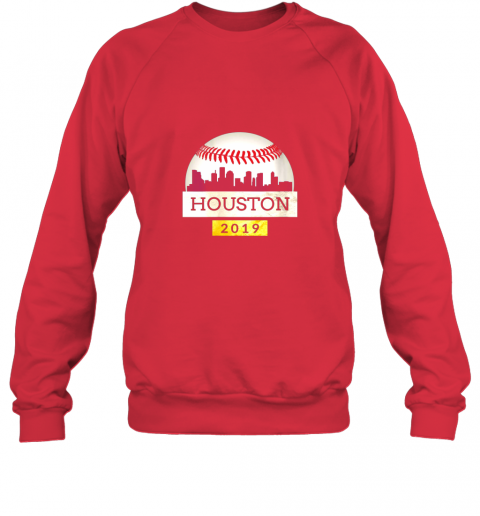 ve1t houston baseball shirt 2019 astro skyline on giant ball sweatshirt 35 front red