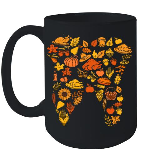 Thanksgiving Tooth Dental Hygiene Dentist Gift Ceramic Mug 15oz