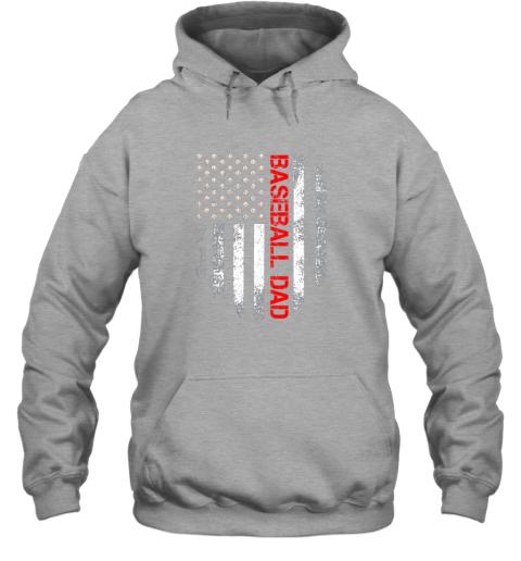 lj8q vintage usa american flag proud baseball dad player hoodie 23 front sport grey