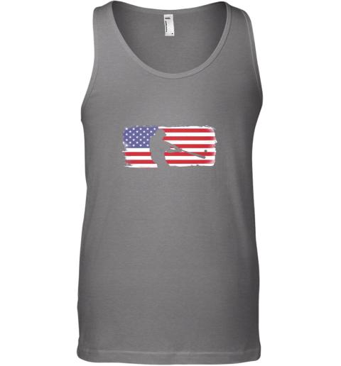 ndma usa american flag baseball player perfect gift unisex tank 17 front graphite heather