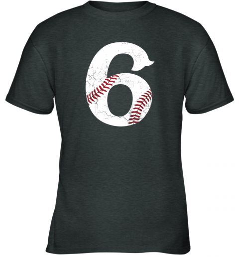 6bm4 kids happy birthday 6th 6 year old baseball gift boys girls 2013 youth t shirt 26 front dark heather