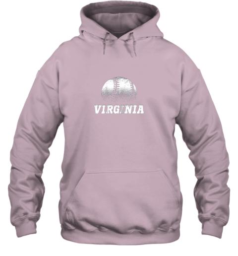xp06 virginia baseball state pride team sport hoodie 23 front light pink
