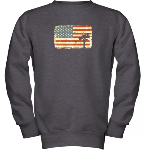 rpzk vintage baseball pitcher shirt american flag youth sweatshirt 47 front dark heather