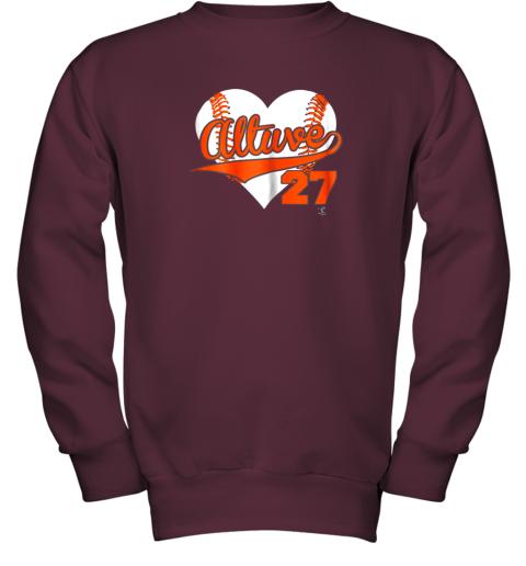 wdkq jose altuve baseball heart shirtapparel youth sweatshirt 47 front maroon