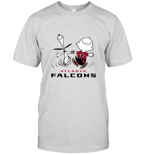 Snoopy And Charlie Brown Happy Atlanta Falcons Fans Unisex Jersey Tee