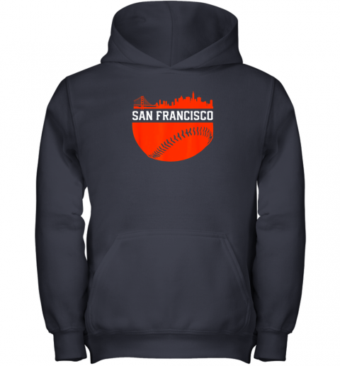 mh3j san francisco baseball vintage sf the city skyline gift youth hoodie 43 front navy