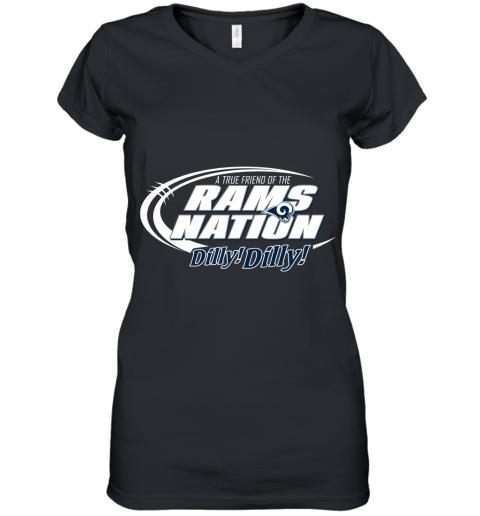 A True Friend Of The RAMS Nation Women's V-Neck T-Shirt