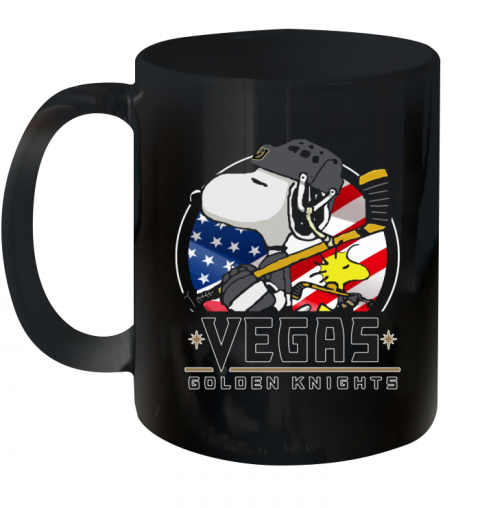 Vegas Golden Knights Snoopy And Woodstock NHL Ceramic Mug 11oz