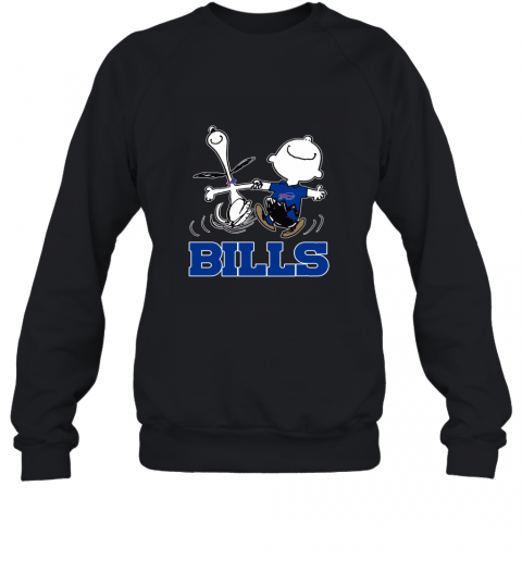 Snoopy And Charlie Brown Happy Buffalo Bills NFL Sweatshirt