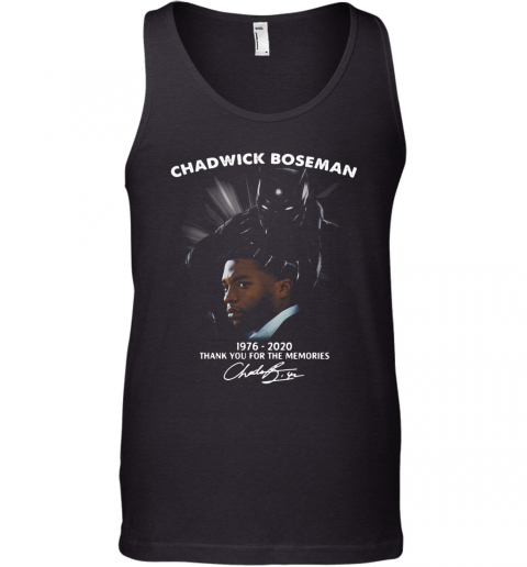 Rip Chadwick 1976 2020 Thank You For The Memories Signature Tank Top