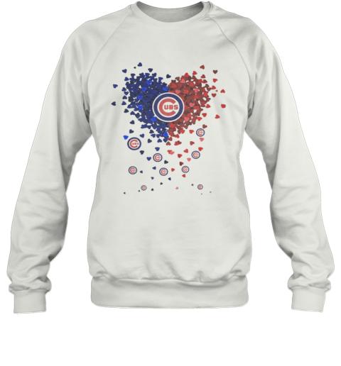 Chicago Cubs Baseball Logo Hearts Sweatshirt