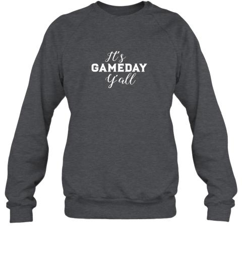ttpd it39 s game day y39 all football baseball basketball sweatshirt 35 front dark heather